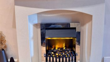 Chrome Electric Fire