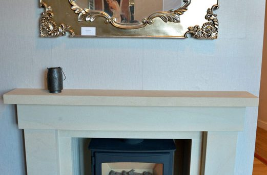Fireplace With Floral Mirror