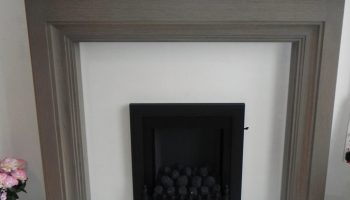 Grey Wood Fireplace