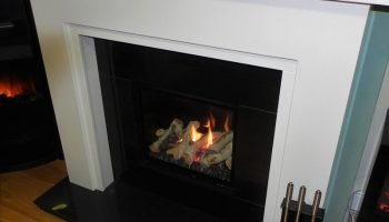 Black Gloss Gas Fire