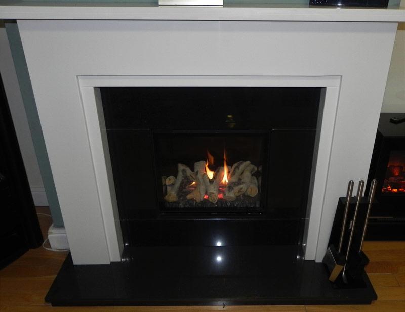 Black Gloss Gas Fire
