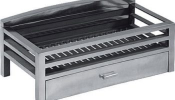 Rectangular Chrome Fire Box