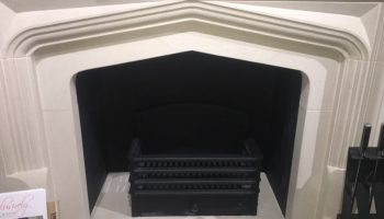 Rectangular Fire Box in Fireplace