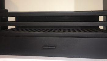 black rectangular fire box