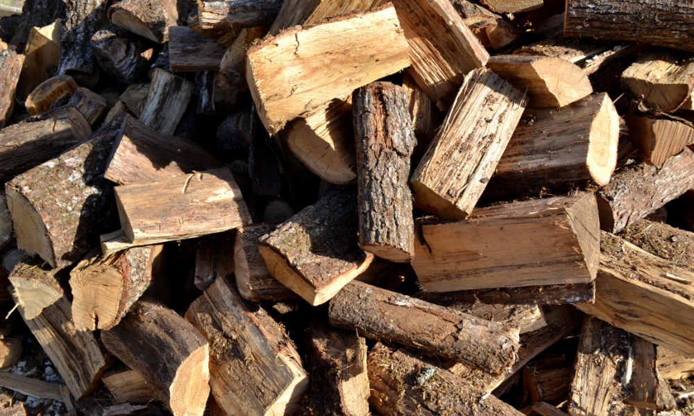 different types of wood logs